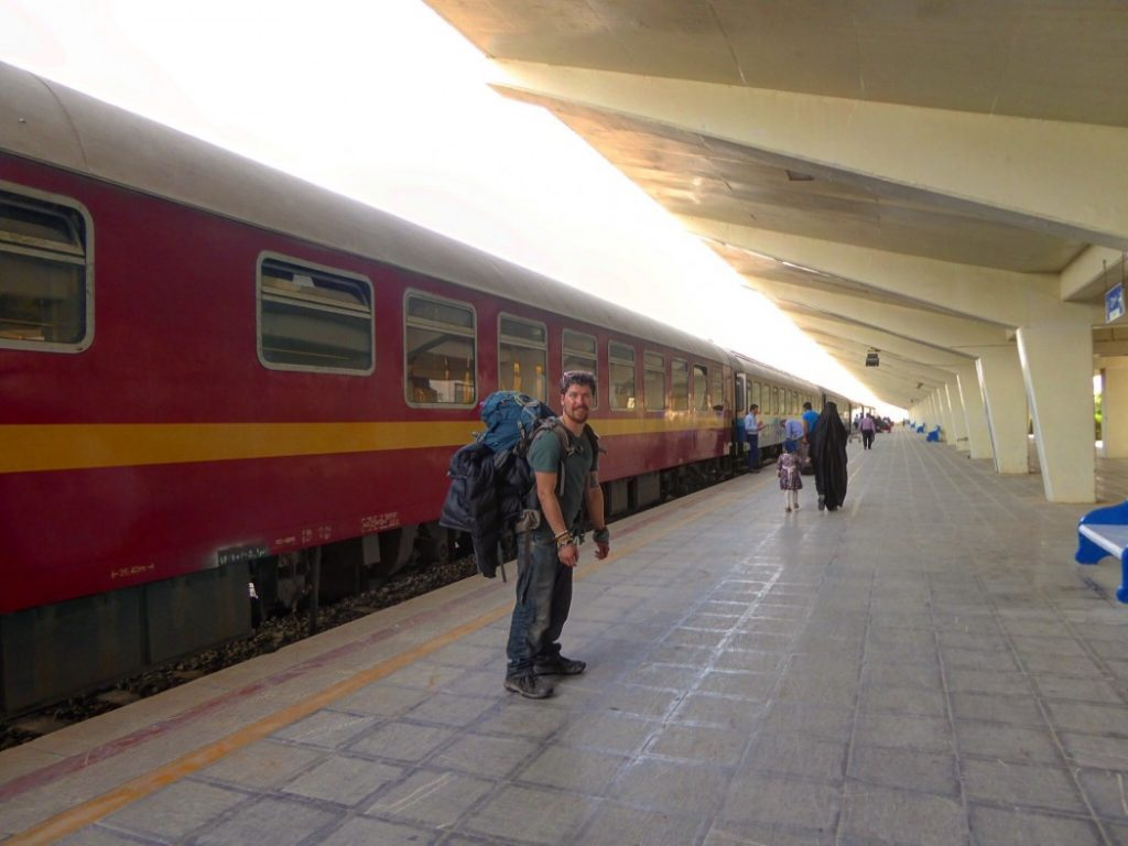 Catching the train in Iran