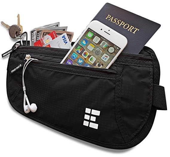Travel money belt for backpackers