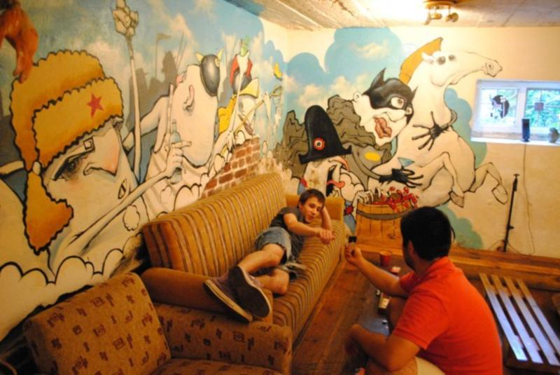 Art Hostel Usually We Spend Our Time in The Garden Best Hostel for Digital Nomads in Sofia