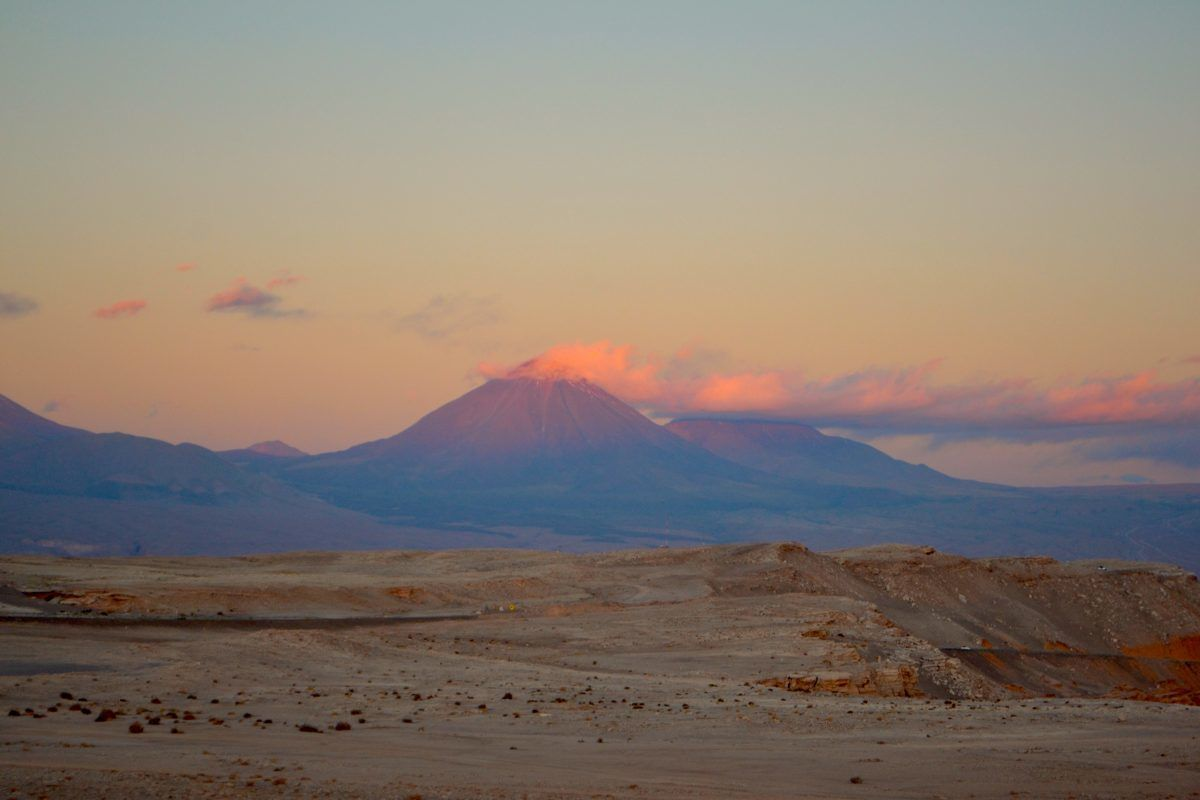 backpacking Chile volcano