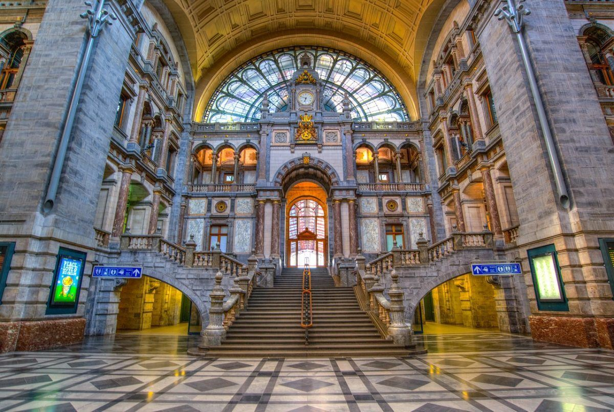 train station in belgium