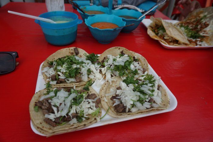 Backpacking Mexico street food