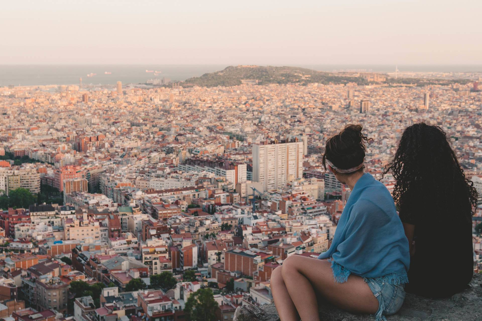 best views while backpacking Barcelona