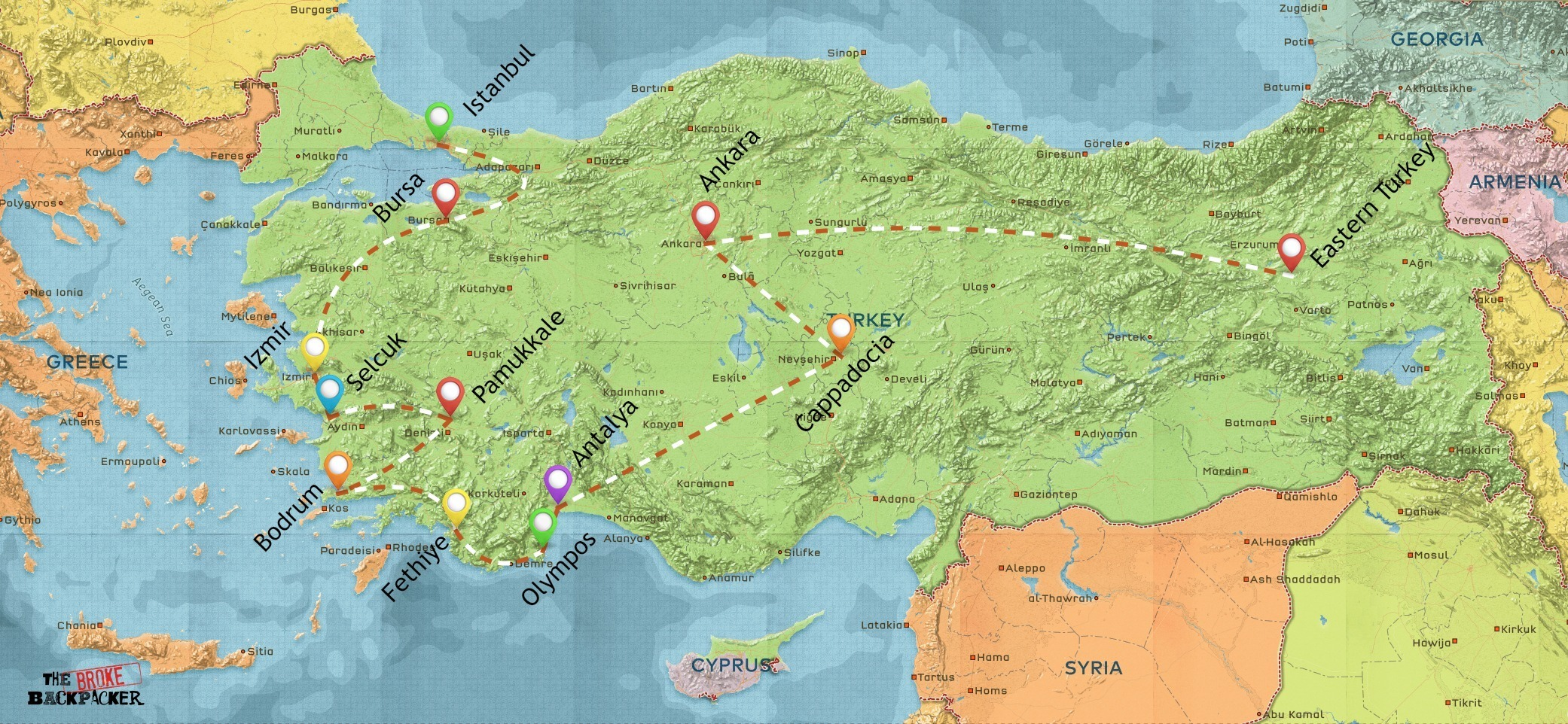 backpacking-turkey-itinerary-map-4-weeks