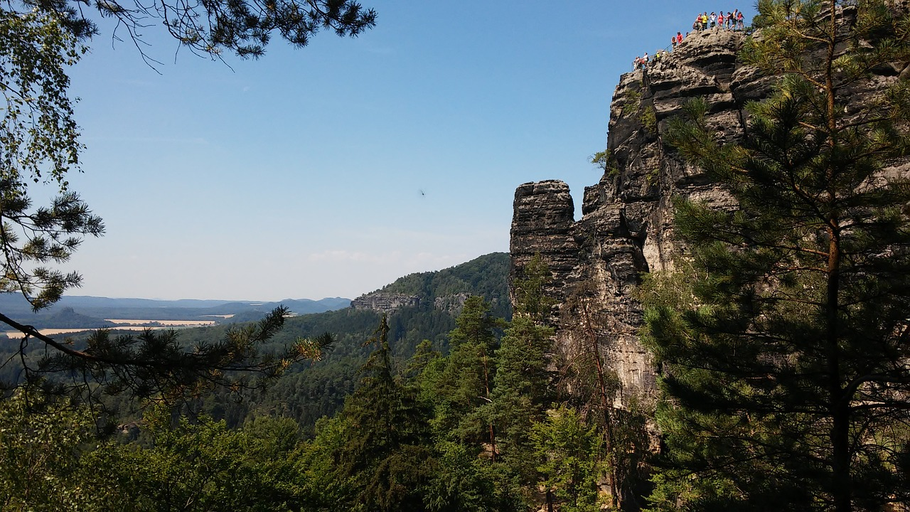 hiking in bohemian switzerland national park in czech republic