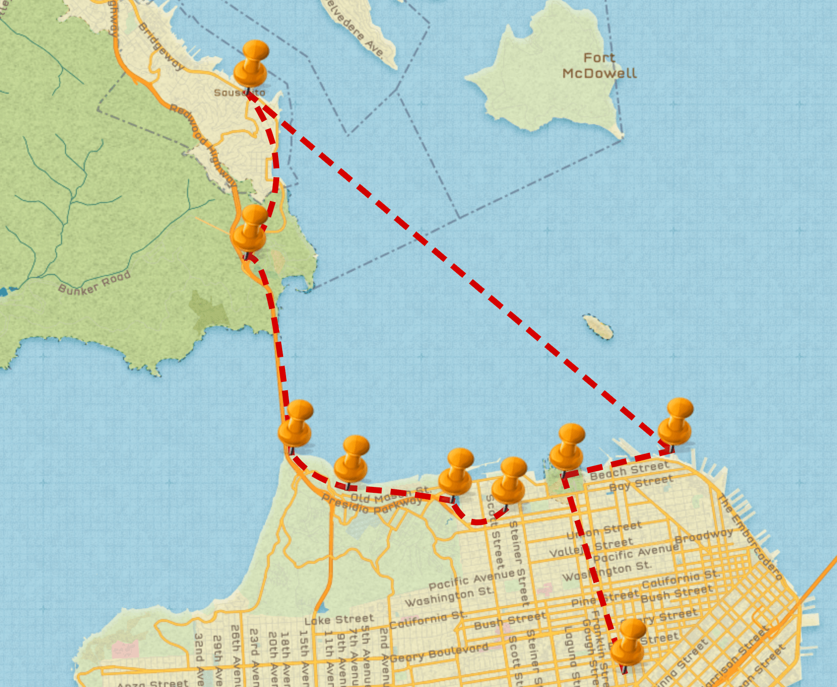 Day 1 in San Francisco Itinerary