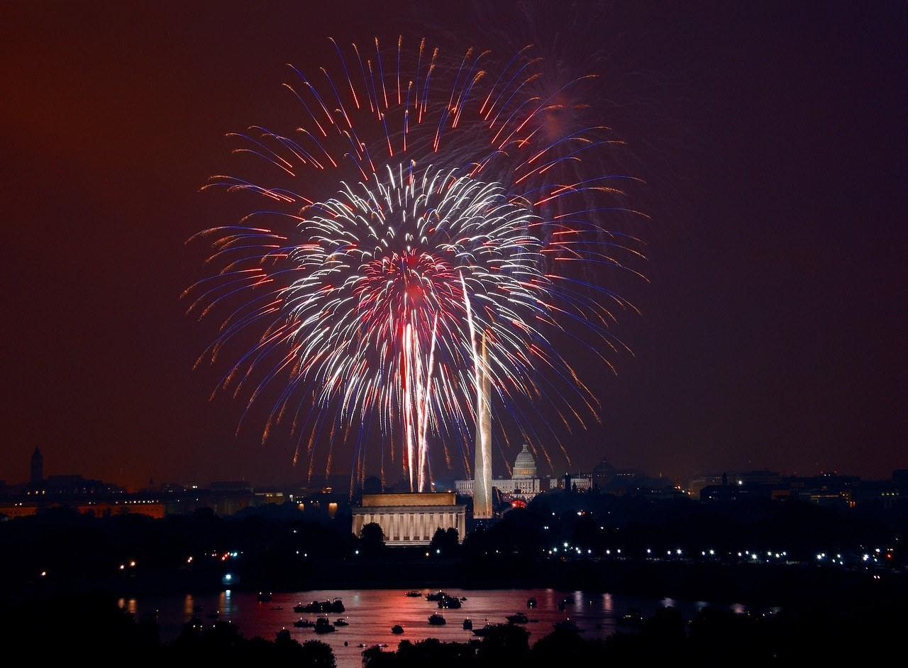 Fireworks in Washington DC - a fun thing to do in the USA