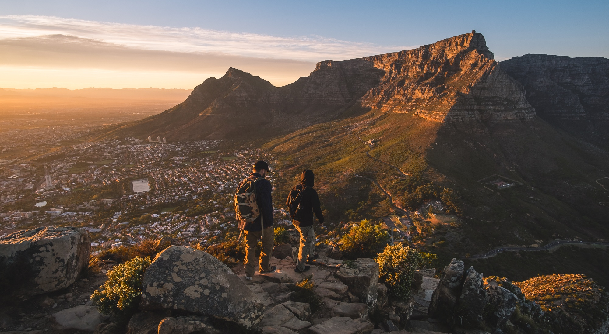 hiking with a backpack cape town