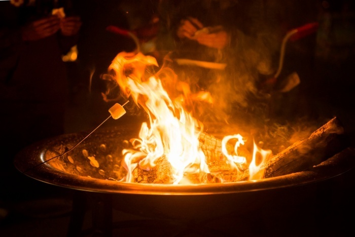 Marshmallows roasting on the fire is the ultimate campfire recipe idea