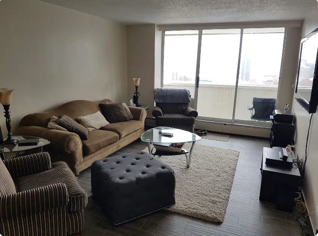 Downtown Highrise apartment room